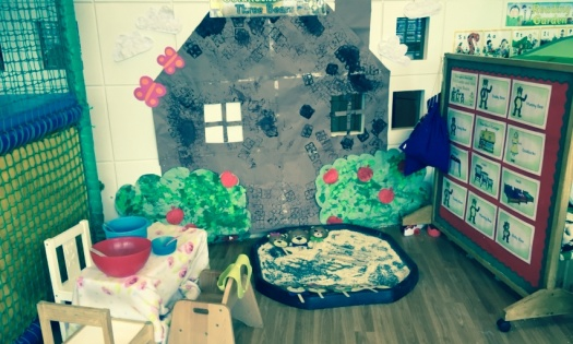 Our Three Bears House complete with porridge play!